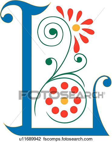 370x470 Clipart Of Letter L U11689942