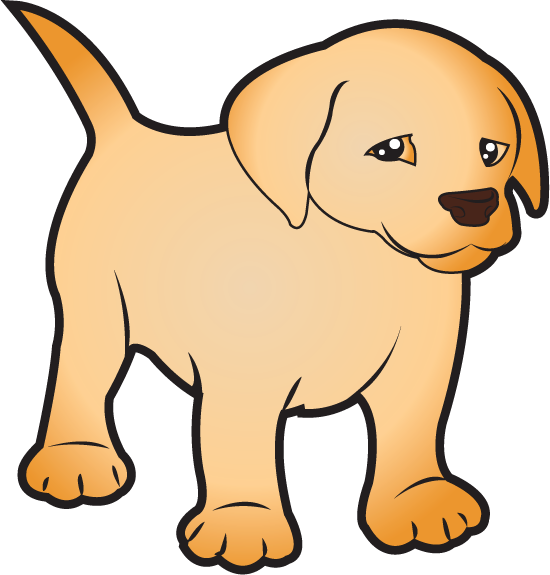 550x575 Free Clip Art Animals Pets Puppy Labrador ( Full Color)