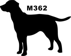 236x184 Labrador Nose Silhouette Dogs Wall Art Stickers Wall Decal
