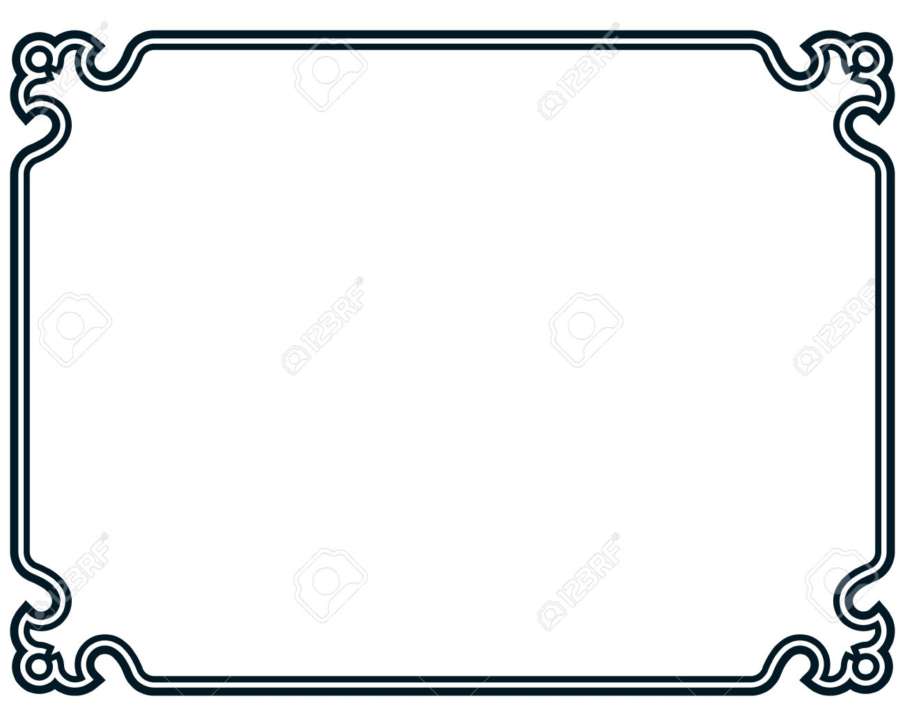1300x1043 Border Frame Line Deco Vector Label Simple Royalty Free Cliparts