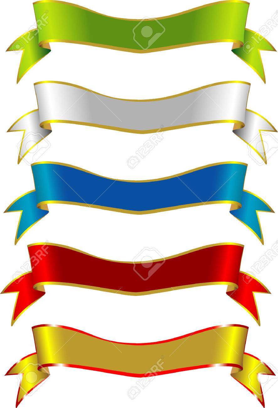 886x1300 Generic Label Vector Ribbons Suitable For Many Design Uses Royalty