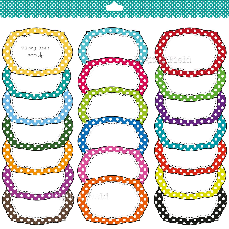 1500x1500 Colorful Polka Dot Labels Clip Clipart Panda