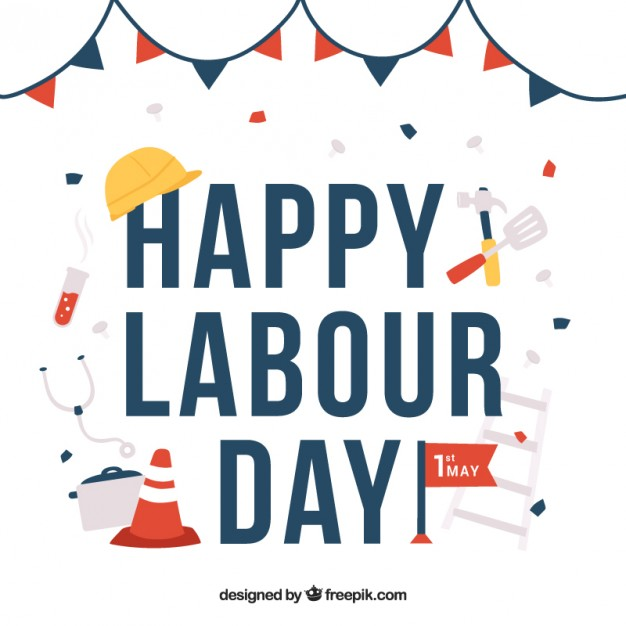 626x626 Labor Day Background With Working Elements Vector Free Download
