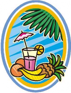 232x300 Tropical Island Fruit Umbrella Drink Clip Art For Labor Day