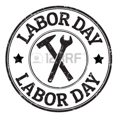 450x450 Black Grunge Rubber Stamp With The Text Labor Day Written Inside