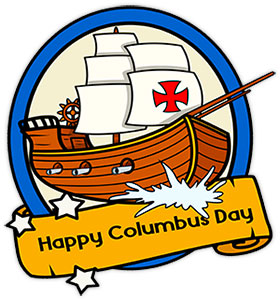 280x300 Free Columbus Day Clipart