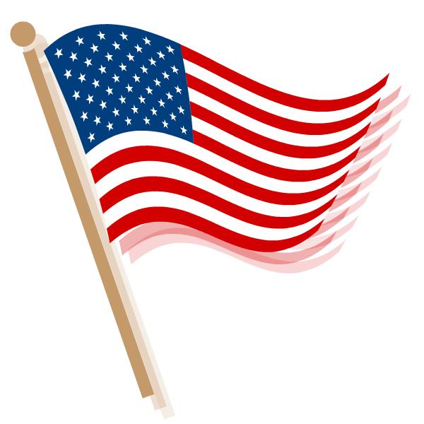 600x600 Flag clipart america