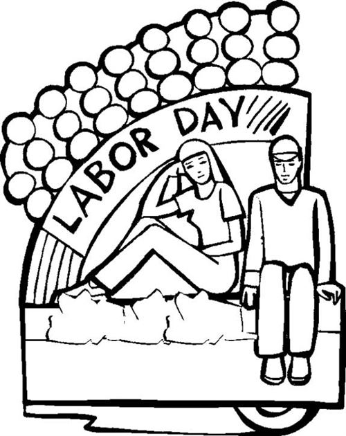 500x630 Free Labor Day Clipart Black and White Image