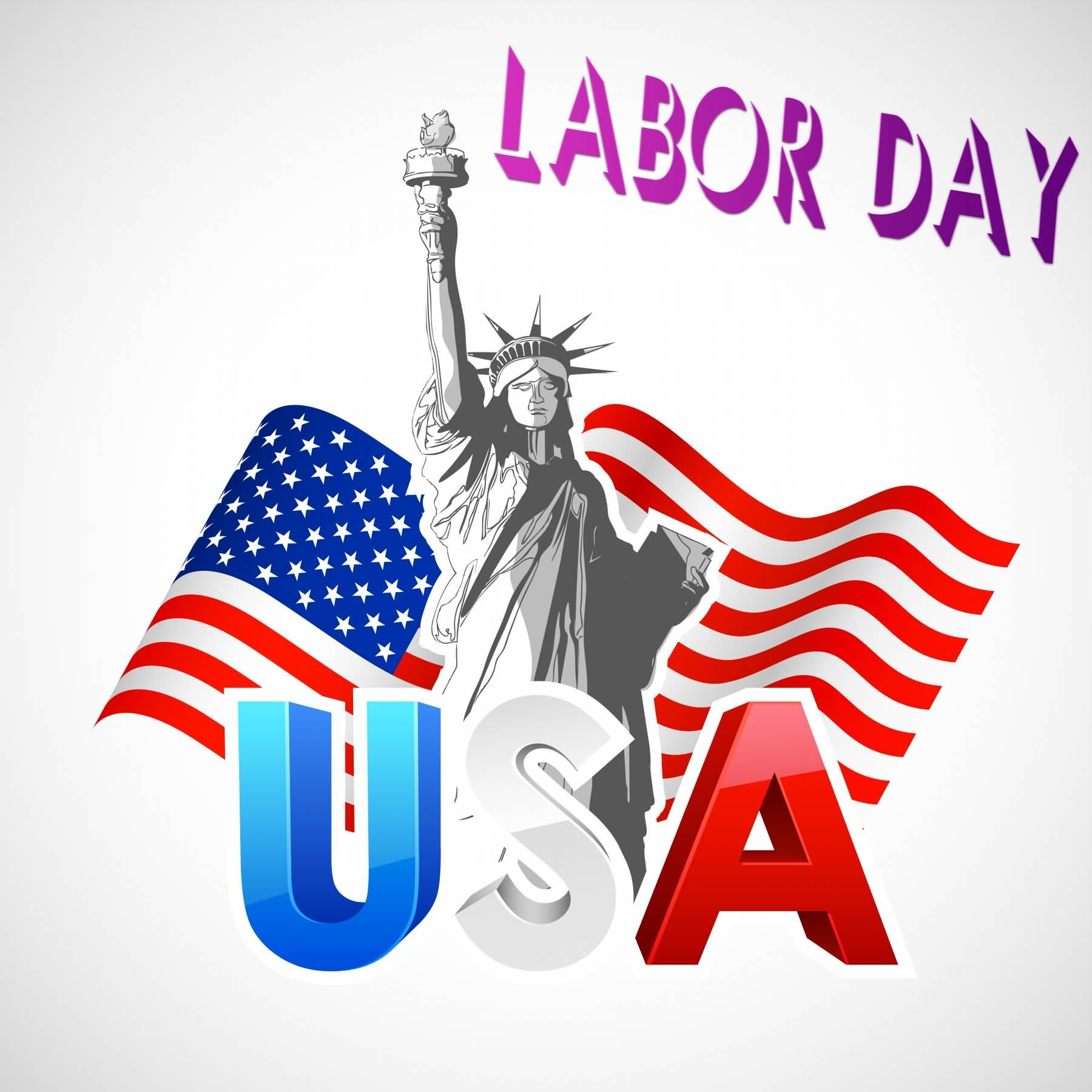 1800x1800 Labor Day Usa Statue Of Liberty