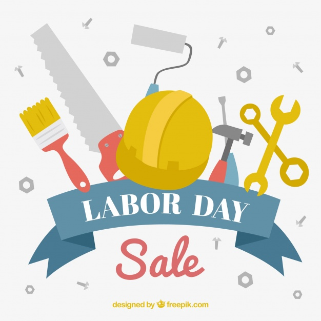 626x626 Labor Day Sale Background With Tools Vector Free Download