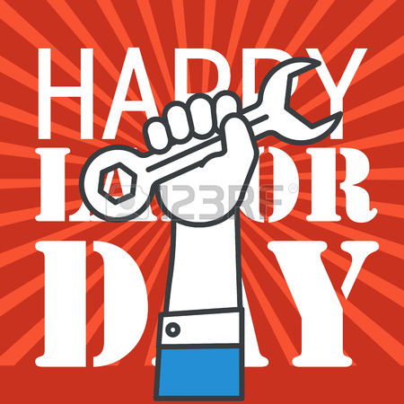 450x450 The Celebration Of The Labor Day. Vector Illustration Royalty Free