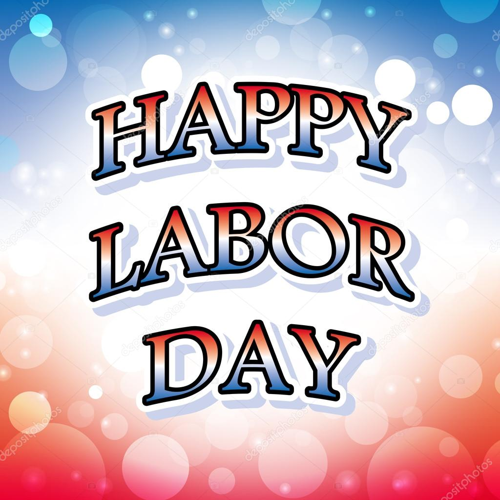 1024x1024 Happy Labor Day Banner On Celebration Background 1 Stock Vector