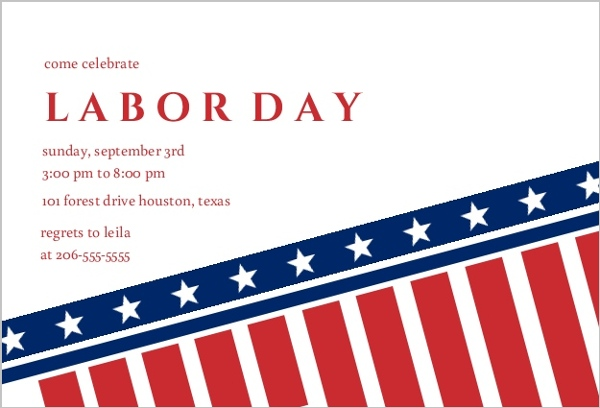 600x408 Labor Day Invitations Amp Labor Day Cards