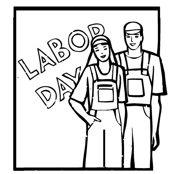 700x714 Black Worker Labor Day Clipart