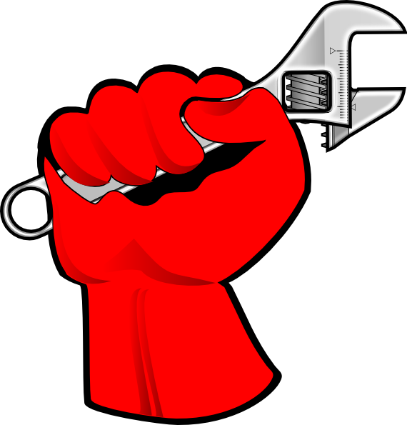 570x595 Red Hand Labor Clipart