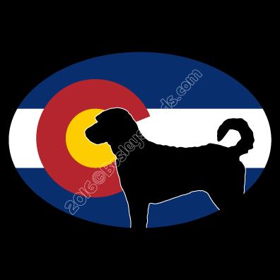 396x396 I Love My Colorado Labradoodle Dog Sticker Oval Bosley's Goods