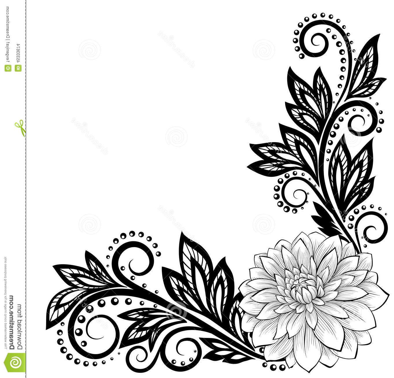 1358x1300 Top 10 Corner Lace Clipart Cdr