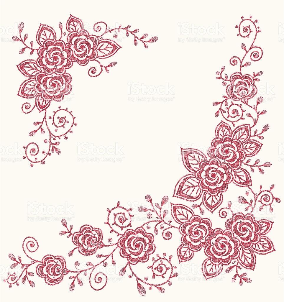 963x1024 Flower Lace Clipart