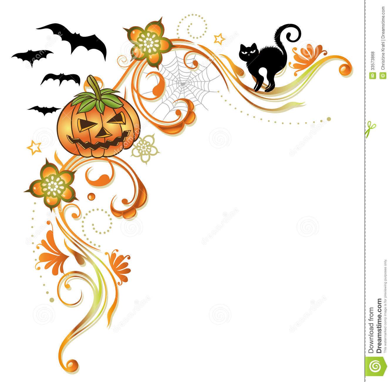 1332x1300 Halloween Corner Border Clipart