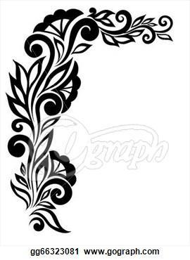 270x370 Lace Corner Border Clip Art