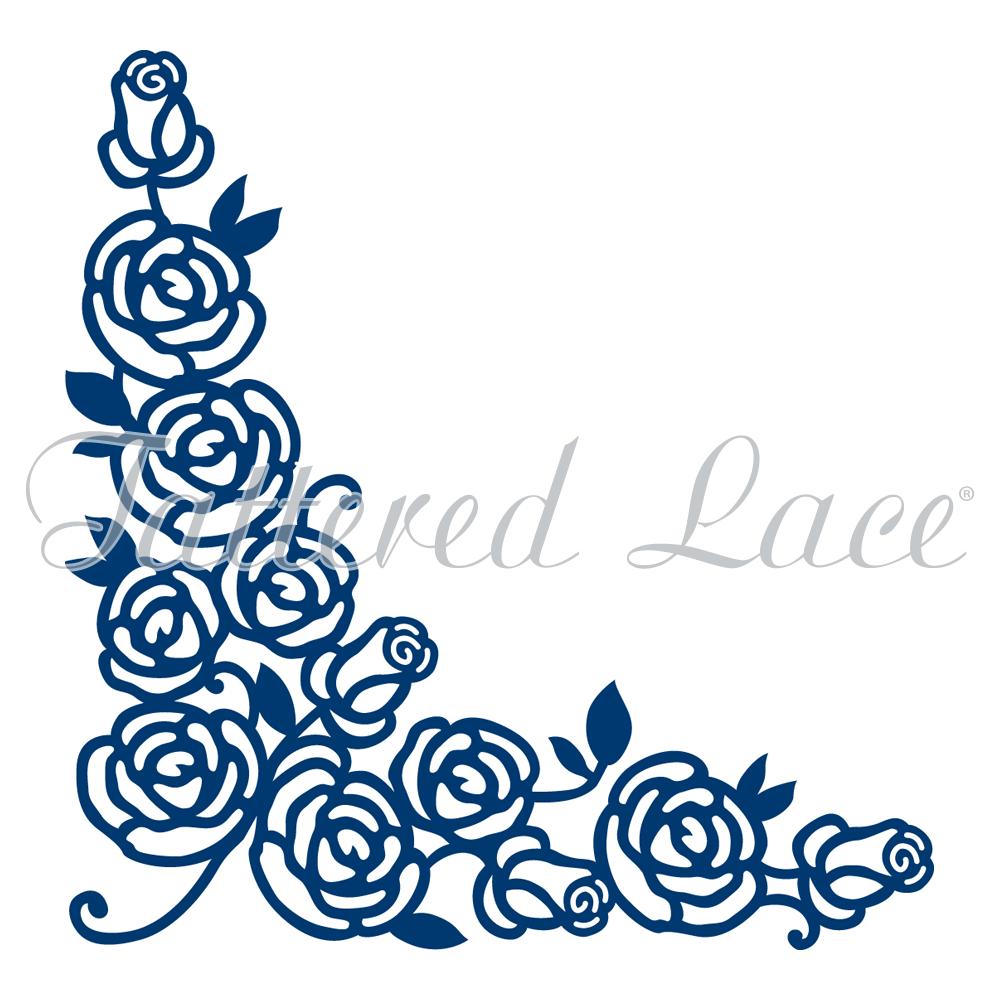 1000x1000 Rose Corner (D470) Tattered Lace