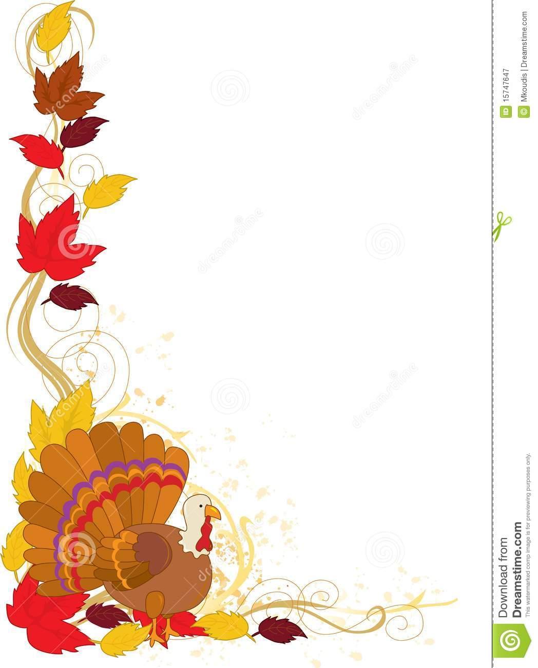 1048x1300 Thanksgiving Corner Border Clipart