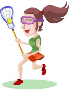 230x300 Girl Lacrosse Clipart