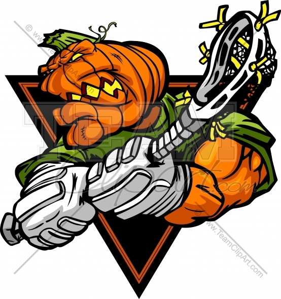 554x590 Halloween Lacrosse Clipart Image. Vector Format.