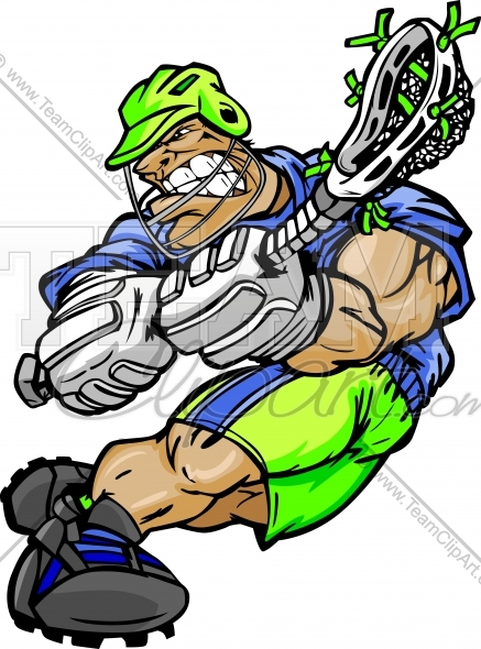437x590 Lacrosse Player Cartoon Graphic Image. Vector Format.