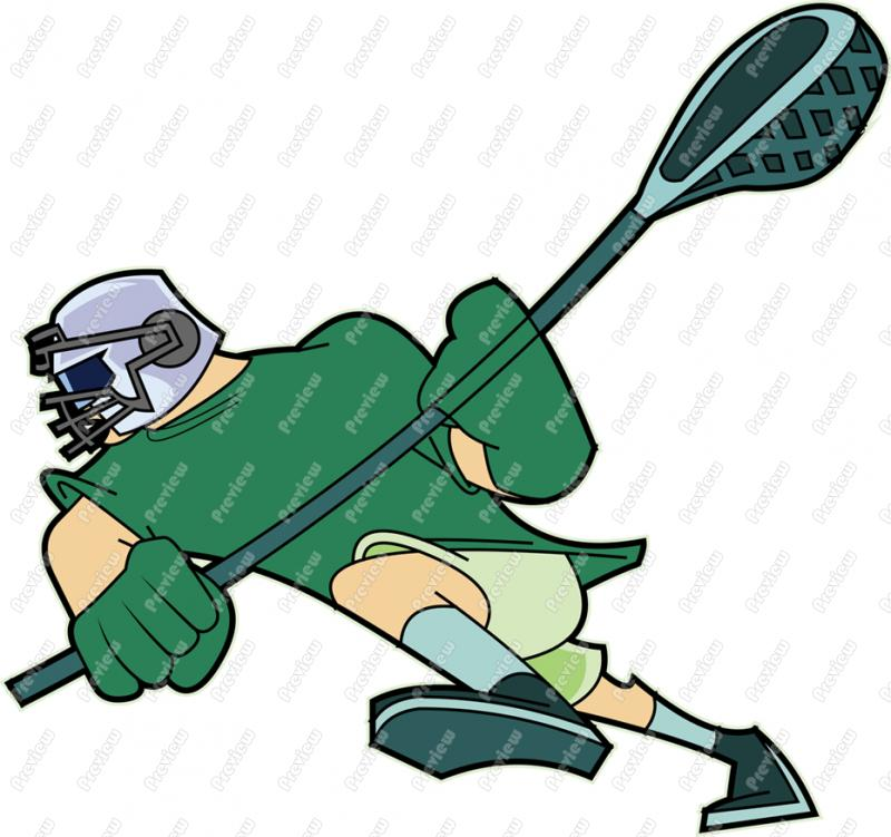 800x751 Lacrosse Player Character Clip Art