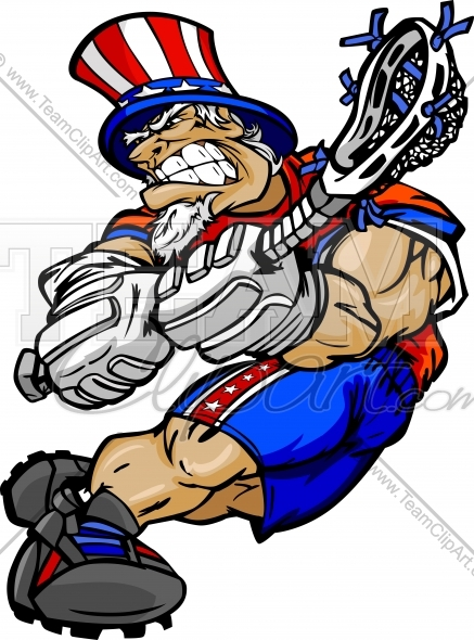 437x590 Uncle Sam Lacrosse Clipart Image. Easy To Edit Vector Format.