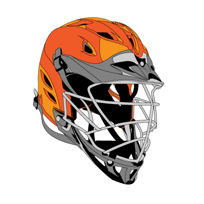 400x400 Lacrosse Sticks Heads And Helmet Vector Clip Art Clipart Image