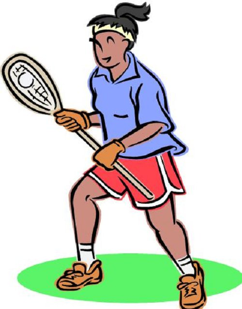 500x637 Womens lacrosse sticks clipart image 2