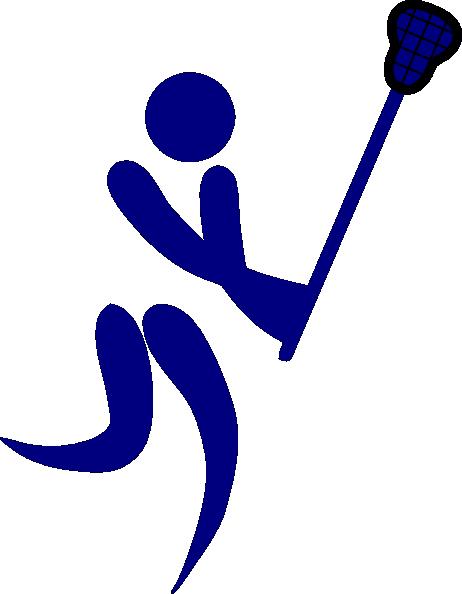 462x594 Blue Lacrosse Clip Art