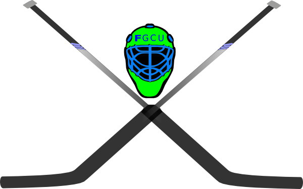 600x374 Hockey Mask Amp Crossed Sticks Clip Art