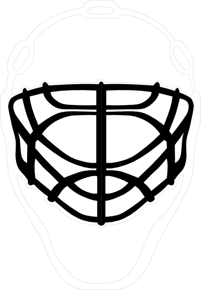 414x599 Black Goalie Mask Clip Art