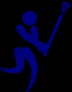 231x297 Blue Lacrosse Clip Art