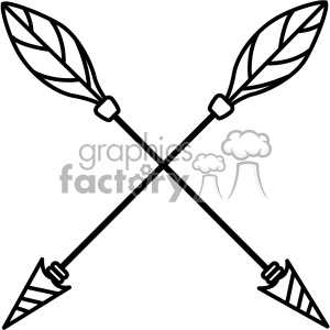 300x300 Royalty Free Arrows Crossed Vector Design 02 403278 Vector Clip