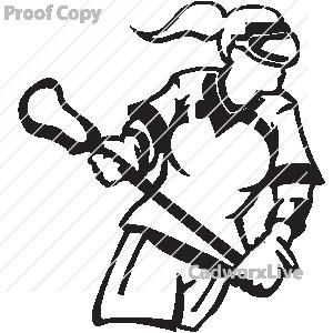 300x300 Girls Lacrosse Clipart