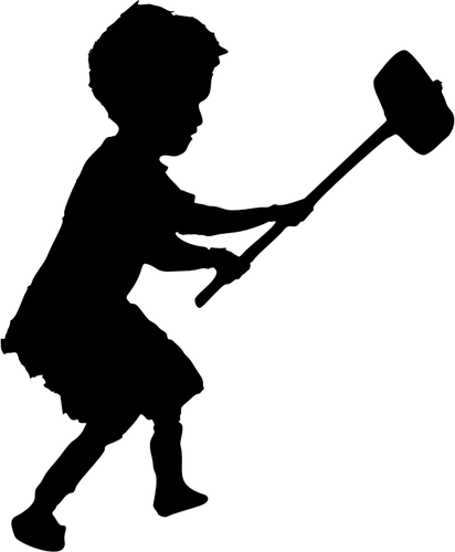 412x500 5974 Silhouette Free Clipart Public Domain Vectors