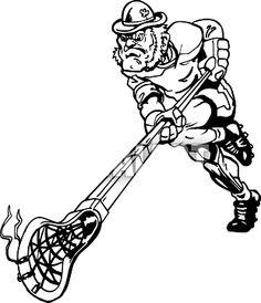 236x274 Men's Lacrosse Defensive Silhouette Lacrosse, Silhouettes