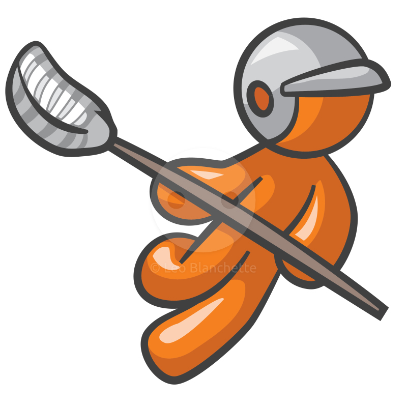 800x800 Orange Man Lacrosse Player Clip Art Illustration Illustrations