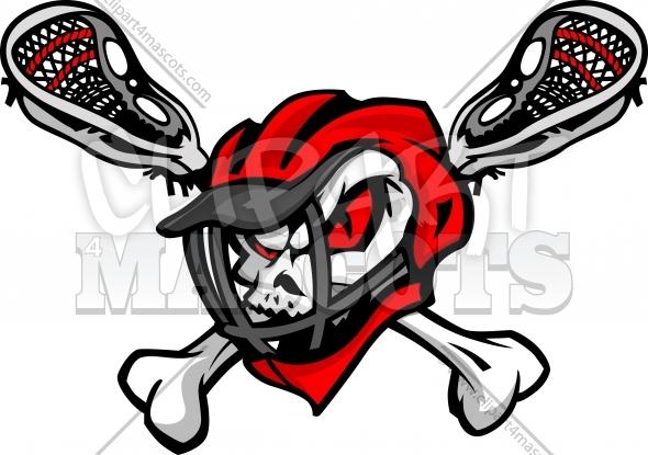 590x415 Skull Lacrosse Clipart Graphic Vector Logo