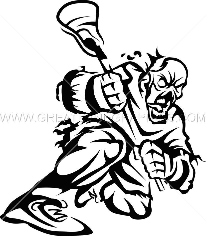 825x943 Zombie Lacrosse Production Ready Artwork For T Shirt Printing