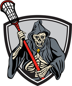 253x300 Drawing Sketch Style Illustration Of The Grim Reaper Lacrosse