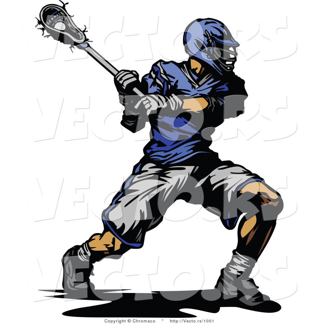 1024x1044 Vector Of A Competitive Lacrosse Player Swinging Stick By Chromaco