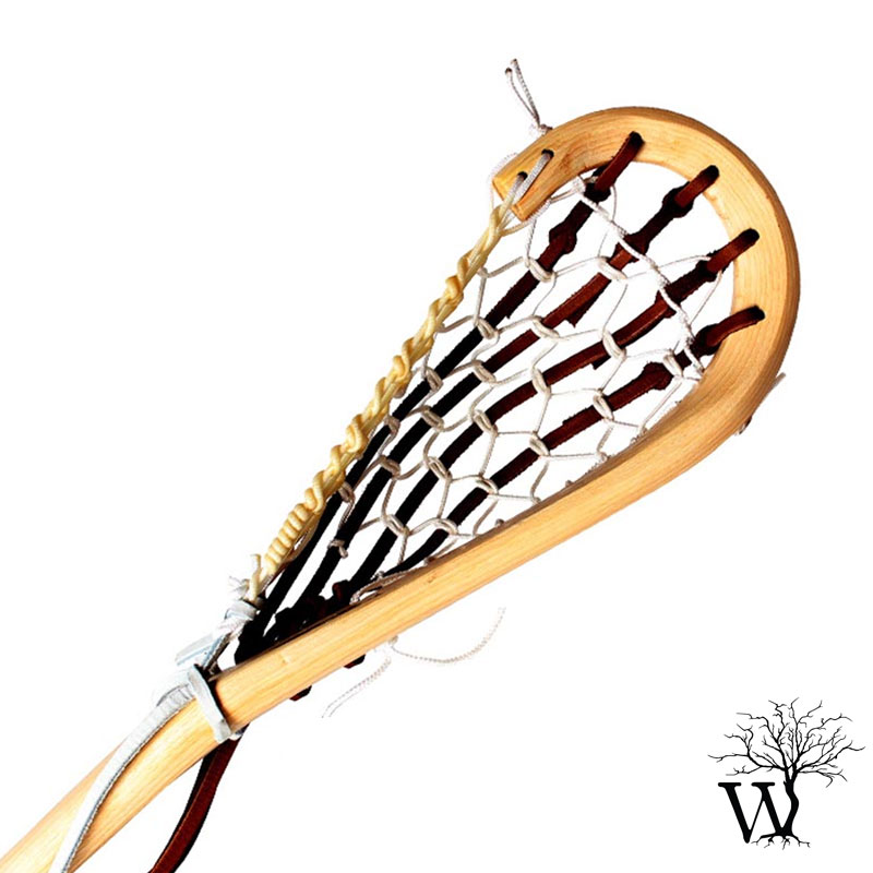 800x800 Wooden Box Lacrosse Stick, Native Indian Traditional Stick, Strung