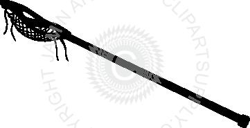 361x185 Single Clipart Lacrosse Stick