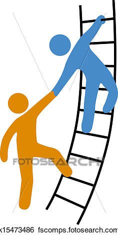 236x470 Clip Art Of People Helping Join Up Ladder K15473486