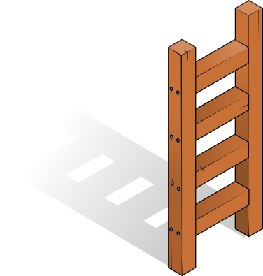 376x395 Free Wooden Ladder Clip Art